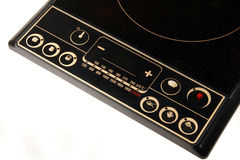 Induction cooker. Close-up of induction cooker's control panel on white Stock Photo