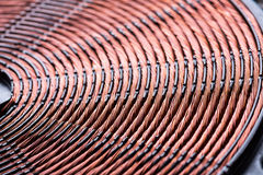 Induction heater copper coil closeup Royalty Free Stock Photo