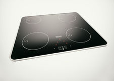 Induction Hob. The black modern induction hob Royalty Free Stock Images