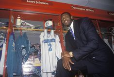 Induction of Larry Johnson into the NBA Hall of Fame, Springfield, MA Royalty Free Stock Photos