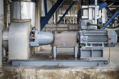 Induction motor with Centrifugal pumps. In chemical industrial plant royalty free stock photo