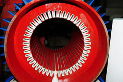 Induction motor in the workshop Stock Image