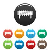 Induction spring coil icons set color. Induction spring coil icons set 9 color vector isolated on white for any design royalty free illustration