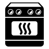 Induction stove icon, simple style. Induction stove icon. Simple illustration of induction stove vector icon for web design isolated on white background stock illustration