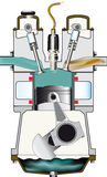 Induction Stroke Stock Images