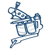 Induction tattoo machine icon. Design elements in hand drawn style stock illustration