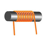 Inductor coil Royalty Free Stock Photo