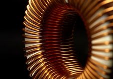 Inductor detail Royalty Free Stock Photo