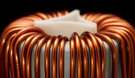 Inductor detail Royalty Free Stock Images