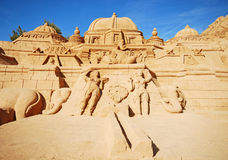 Induism temple large sand sculpture, Algarve, Portugal. Stock Images