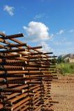 Induit en acier de construction photographie stock
