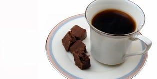 Indulgência do Fudge e do café Imagens de Stock