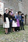 Indulgence dress parade in Locronan, 03 stock photo