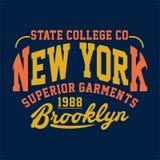INDUMENTI DEL SUPERIORE DI NEW YORK DELLE STATE COLLEGE Fotografie Stock