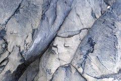 Indurimento della lava vulcanica con una struttura interessante Fotografie Stock