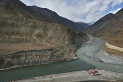 Indus και Zanskar Στοκ Φωτογραφίες
