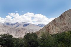 Indus group mountains from Hemis Monastery Leh, ladakh Royalty Free Stock Image