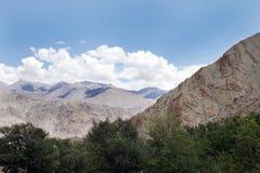 Indus group mountains from Hemis Monastery Leh, ladakh Royalty Free Stock Image