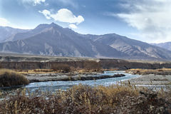 Indus mountain river in the Himalayas Stock Photography