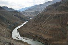 Indus och Zanskar Arkivfoton