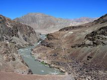 Indus River. Trekking in Himalaya, Ladakh, India Stock Photos