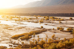 Indus River during autumn season Stock Photos