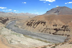 Indus River, Ladakh. Confluence of the Indus and Zanskar Rivers in the mountainous region of Ladakh, northern part of India Stock Photo