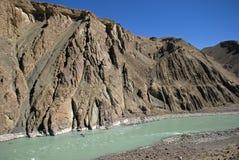 Indus River, Ladakh, India. Indus River in Ladakh, India Royalty Free Stock Images