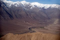 Indus River, Leh, Ladakh, India. The Indus River is originating in the Tibetan plateau in the vicinity of Lake Mansarovar in Tibet Autonomous Region, the river Stock Images