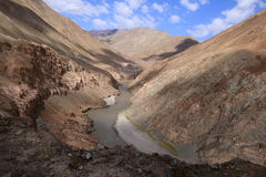 The Indus River near Zinchan village in Ladakh, India Stock Photography