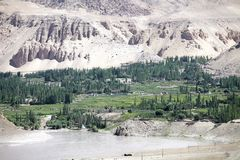 Nimmu Valley and Indus River, Ladakh, India. Indus River in a Nimmu valley in Ladakh, india. The total lenght of the river is 3610 km Royalty Free Stock Images