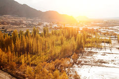 Indus River in sunrise Royalty Free Stock Photography