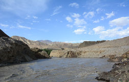 Indus river at Zanskar valley in Ladakh, India Stock Images