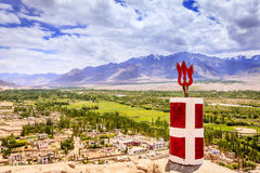 Indus Valley. Beautiful view to Indus Valley from Thiksay monastery in Ladakh, Kashmir, India Royalty Free Stock Images
