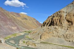Indus Valley in Ladakh, India Royalty Free Stock Photo