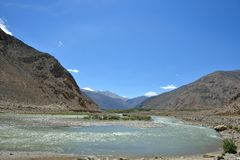 Indus Valley in Ladakh, India Royalty Free Stock Photography