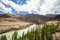 Indus valley near Leh in Ladakh, India Royalty Free Stock Images