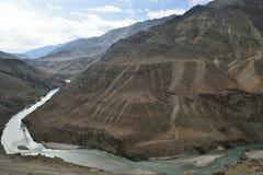 Indus y Zanskar Foto de archivo libre de regalías