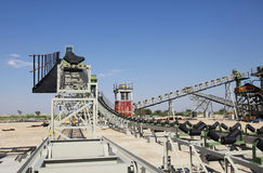 Indusrial Bergbauanlage im Bau Lizenzfreies Stockfoto