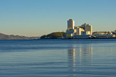 Industial buildings on the coast of Stavanger Stock Photos