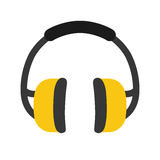 Industial earmufss equipment Stock Images