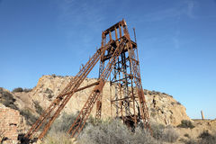 Industiral ruin of the old mine Royalty Free Stock Photo