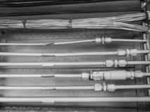 Industiral wire and pipe Stock Image