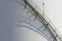 Industrail工厂楼梯 免版税库存照片