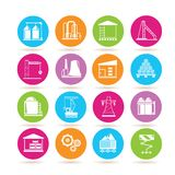 Industrail building icons Royalty Free Stock Image