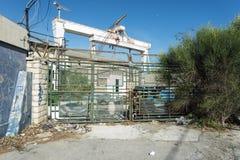Industrail gnicia statku budynek Zdjęcie Royalty Free