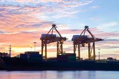 Industrail ship Sunrise Royalty Free Stock Image
