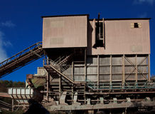 Industral Buildings at a Stone Quarry. Site royalty free stock photo