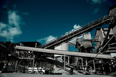 Industral Buildings at a Stone Quarry Royalty Free Stock Images