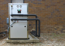 industriële ac compressor stock afbeeldingen
